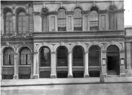 The outside of the Town Library in the about 1890